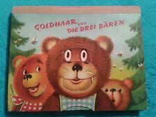 GOLDHAAR UND DIE DREI BÄREN - Kubasta Pop-up Aufstellbilderbuch - 1966 - RARITÄT