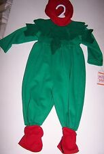 NWT SWEET POTATOES GREEN RED ELF 1 PC HALLOWEEN COSTUME 2T Free US Shipping