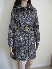 """Black Rivet"" Lady's Animal Leopard Print Parka Jacket/Coat Size XS-UK6,8-£85!!"