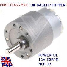 12V DC HIGH TORQUE - 30 RPM  Reversable Motor & GBox - ARDUINO - RASPBERRY Pi
