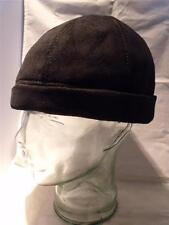 Will Smith I robot Style Black Suede Leather Beanie Cap