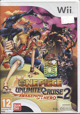 ONE PIECE UNLIMITED CRUISE 2 Awakening Of A Hero WII NUOVO, ITALIANO