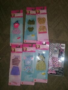 Barbie doll clothes lot of 7 nrfb