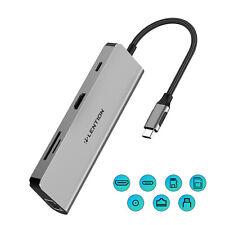 USB C-Hub mit 4K HDMISD Kartenleser Ethernet Aufladen Aux AdapterMultiport
