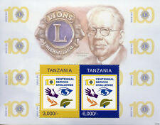 Tanzania 2017 MNH Lions Club International 100th Ann Melvin Jones 2v S/S Stamps