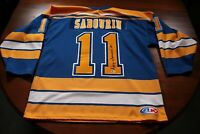 St. Louis Blues Alumni Signed Autographed Gary Sabourin Jersey Auto Hockey