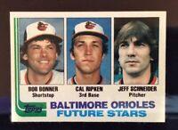1982 Topps #21 Orioles Future Stars Cal Ripken Jr. HoF ROOKIE With Certificate