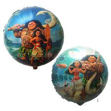 10pcs Moana Foil Balloons Cartoon Globos Birthday Party Decorations kids Toys