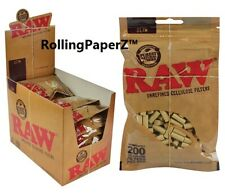 Buy One Bag (200 Count) Raw Rolling Paper Slim Cellulose Cigarette Filter Tips