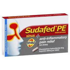 * SUDAFED PE SINUS ANTI-INFLAMMATORY PAIN RELIEF 24 TABLETS DOUBLE ACTION