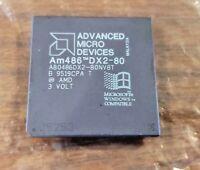Rare CPU computer chip - AMD Am486 DX2-80 A80486DX2-80NV8T