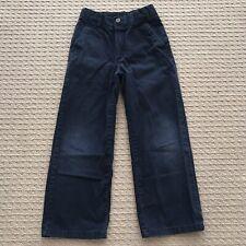 Vguc! Classic Chaps Chino Boys Navy Blue Pants Sz 6 School Uniform Faded Knees