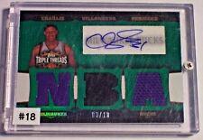 06-07 Topps Triple Threads Emerald Jersey Autograph Charlie Villanueva /18 Bucks