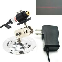 Long-Time 650nm 5mW Red Line Positioning Focusable Laser Module + Adapter Holder