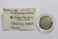 GERMANY MECKLENBURG SCHILLING 1622 BROKEN RESTORED B26 WE22