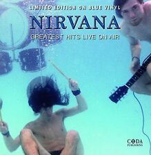 Nirvana - Greatest Hits Live On Air - Ltd Blue Vinyl LP NEW / FACTORY SEALED