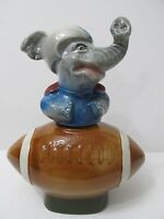 Vintage Jim Beam Whiskey Decanter Elephant In Helmet Football 1972