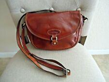 Oroton Australia Handcrafted Cowhide Brown Leather Handbag Crossbody