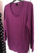 H&M Purple Cable Knit Jumper, Size Medium 10-12