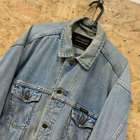 "Vintage Wrangler Thick Heavy Denim Shirt / Jacket Authentic Western M 4"" Chest"