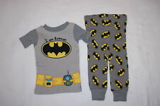 Baby Boys I AM BATMAN Knit S/S Pajamas Set TOOL BELT w/ SIPPY CUP Gray 18 MO