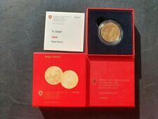 2020 Roger Federer - Schweiz 50 Franken Goldmünze Polierte Platte Proof PP OVP