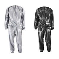 Heavy Duty Fitness Weight Loss Sweat Sauna Suit Exercise Gym Anti-Rip D7C1