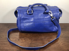Isabella Fiore Blue Leather, Purse, Shoulder Bag, With Top Handles
