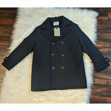 ZARA BOYS Double Breasted Navy Pea Coat Size 11-12 Years