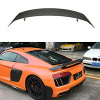 For AUDI R8 Coupe 2016-2019 Rear Trunk Spoiler Lid Racing Wing Carbon Fiber