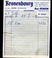 """CHATEAUROUX (36) BIERES / BRASSEUR """"René SCHOEN"""" Publicité KRONENBOURG en 1959"""