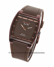 Omax Unisex Damson/Brown Dial Watch, Damson Finish , Seiko (Japan) Movt.