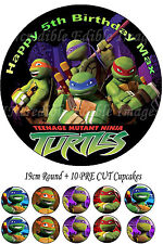 Teenage Mutant Ninja Turtles Edible Cake Topper Party + 10 Cucakes PRECUT