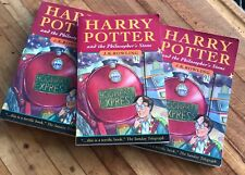 Harry Potter And The Sorcerers Stone JK Rowling 3 Copies Paperback Novel Book