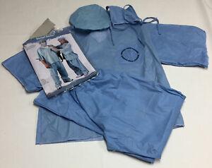 Fun World Doctor Surgeon Vet Nurse Scrubs Halloween Costume Adult One Size Blue