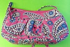 Vera Bradley Purple Blue Floral Paisley Small Purse Cross-body Adjustable Strap