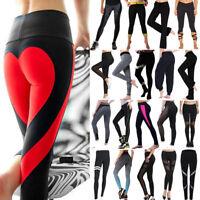 Women High Waist Yoga Leggings Ladies Fitness Pants Running Gym Sports Trousers