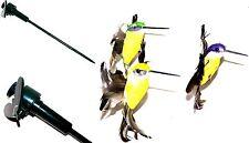 3er Set Drehende Deko Vögel Kolibri Vogel Solar oder Batteriebetrieb Terrasse