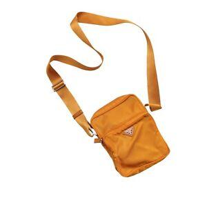 Prada Shoulder Bag Yellow Mustard Vela Nylon Crossbody Pouch