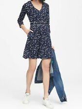 NWT Banana Republic New $139.00 Women Floral V-Neck Fit-and-Flare Dress Size 14