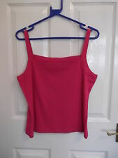 LADIES BHS SQUARE NECK SLEEVELESS VEST TOP SIZE:20 COLOUR: FUSCHIA