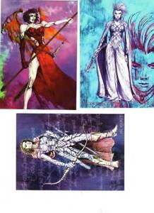 [22444] 3pc Dungeons & Dragons - Females Archers - Lockwood & Sam Wood - 1990s T