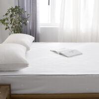 Bettwäsche Matratze Topper Cover Protector ausgestattet Bettlaken weiß