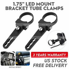 2X 1.75'' Bull Bar Roll Cage Tube Mount Bracket Clamps LED Work Light Offroad