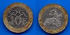 Monaco 10 Francs 1991 Rainier Prince Free Ship World Frcs Frc Paypal Skrill OK