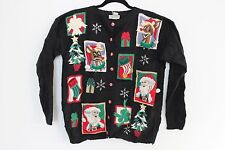 Ugly Christmas Sweater WITH JINGLE BELLS Large L