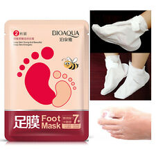 2017 Exfoliating Peel Off Foot Mask Baby Soft Feet Remove Callus Hard Dead Skin