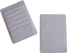 Omega Watch Cream Warranty Card Holder Wallet