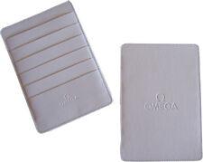 Omega Watch White Warranty Card Holder Wallet