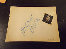 MICHAEL OSHEA SIGNED PAGE FROM AUTOGRAPH ALBUM